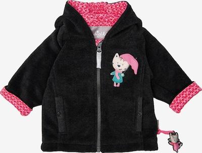 SIGIKID Fleecejacke in pink / schwarz, Produktansicht
