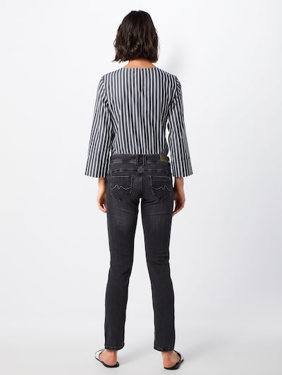 Pepe Jeans Jeans 'NEW BROOKE' in de kleur Black denim: Achteraanzicht