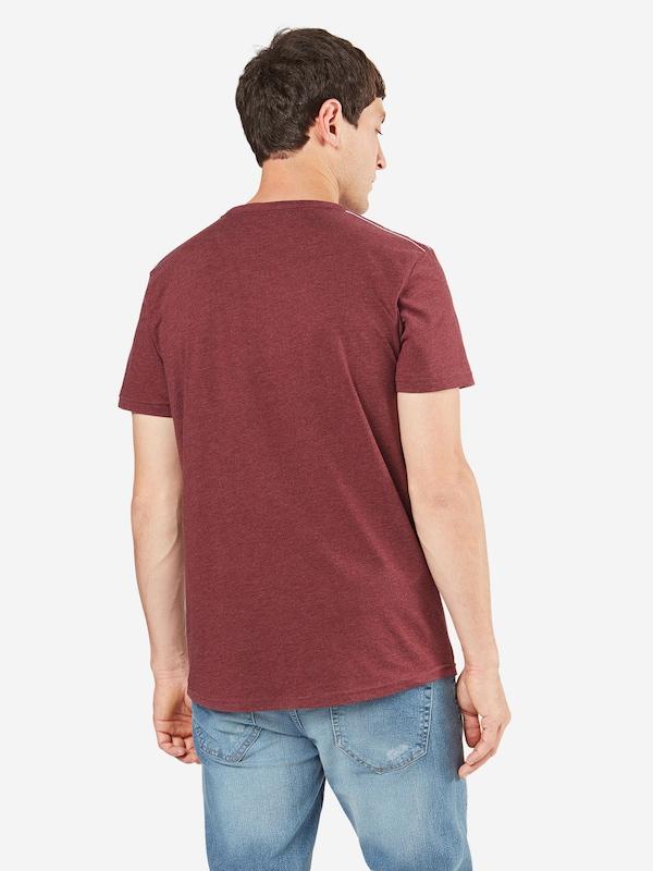 Tom T-shirt En Jean À Manches Courtes Avec Empiècement En Jean
