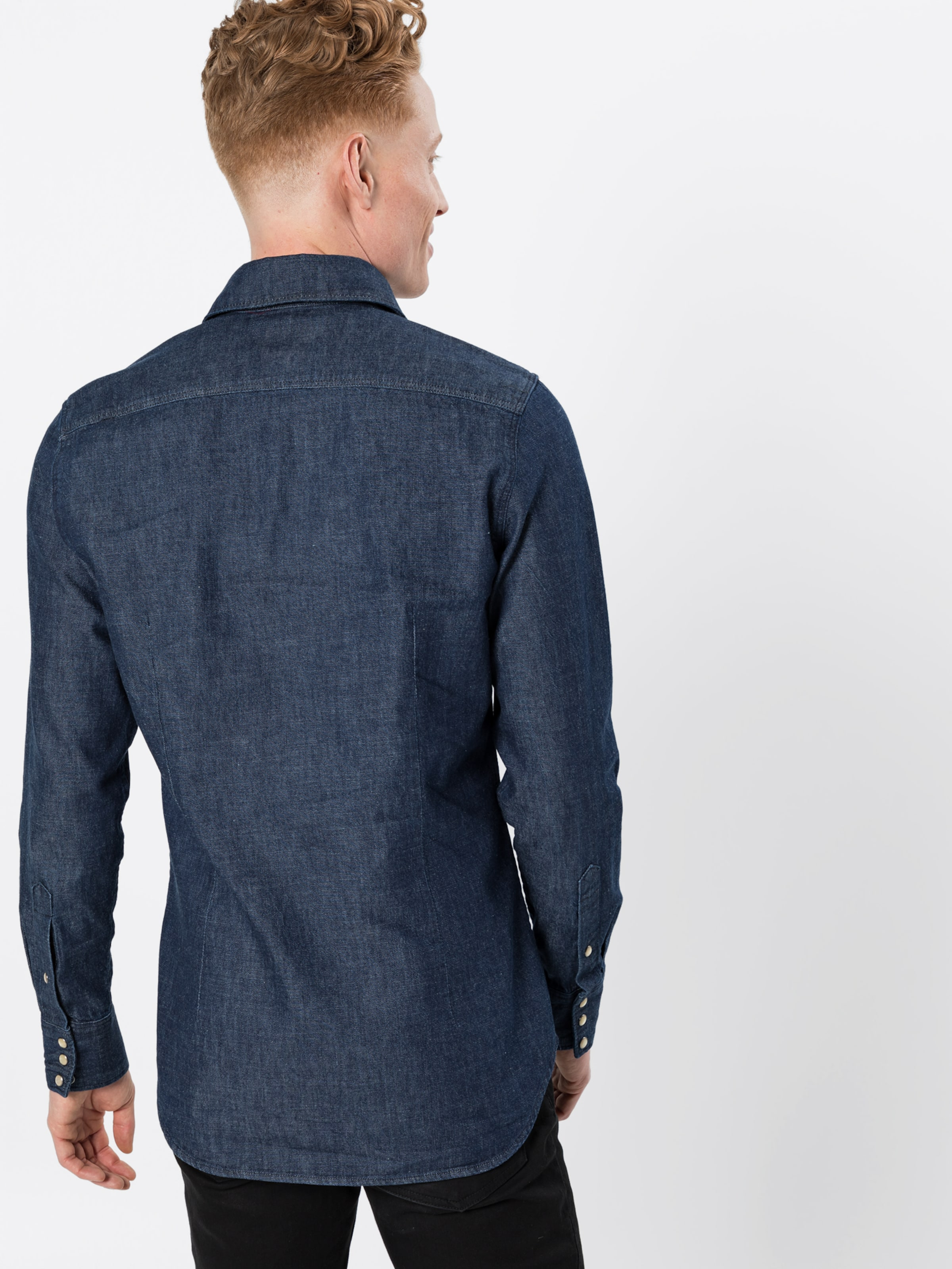 Blue Slim G Ls' Raw Hemd star Denim Shirt In '3301 Nvn8PwOym0