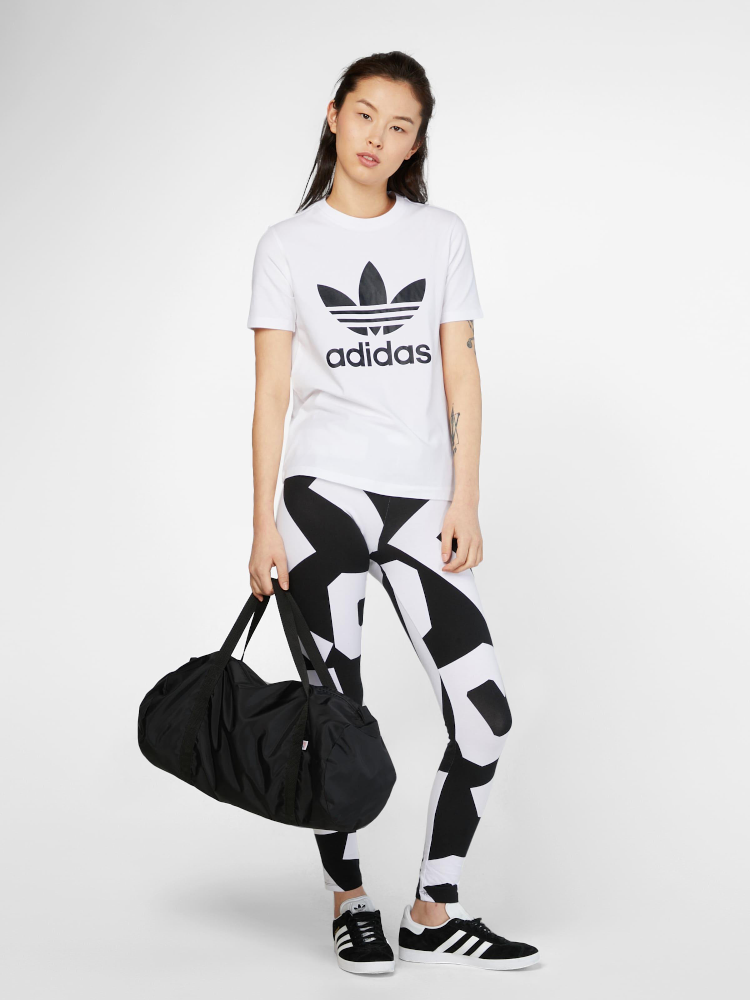 'trefoil' Originals shirt Adidas T NoirBlanc En trCshQd