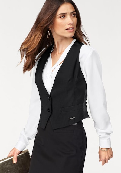 BRUNO BANANI Kurzweste in schwarz, Modelansicht