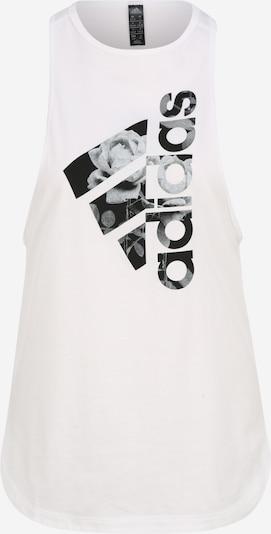 ADIDAS PERFORMANCE Top 'UNIV TANK 3 W' in schwarz / weiß, Produktansicht