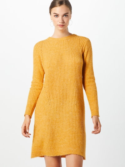 VILA Kleider 'VILOWSA KNIT L/S DRESS' in senf, Modelansicht