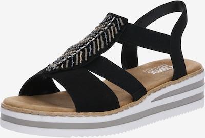 RIEKER Sandale 'V02C1-00' in schwarz, Produktansicht