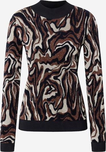 SCOTCH & SODA Pullover 'Marble' in hellbeige / dunkelbraun / schwarz, Produktansicht