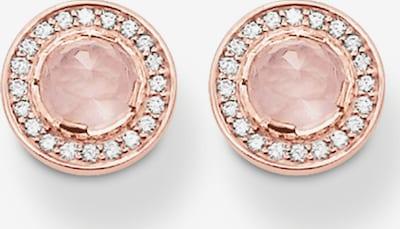 Thomas Sabo Ohrringe in rosegold / rosa / weiß, Produktansicht