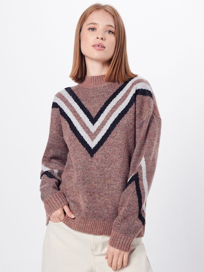 Noisy may Pullover  'LAURA' in mauve: Frontalansicht