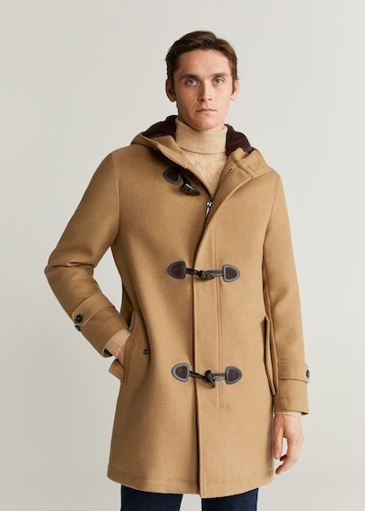 MANGO MAN Přechodný kabát 'CHAQUETON ERBA' - hnědá, Model/ka