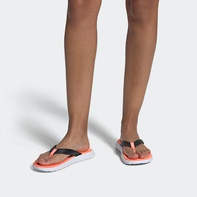 ADIDAS PERFORMANCE Strand-/badschoen in de kleur Koraal / Zwart / Wit: Vooraanzicht