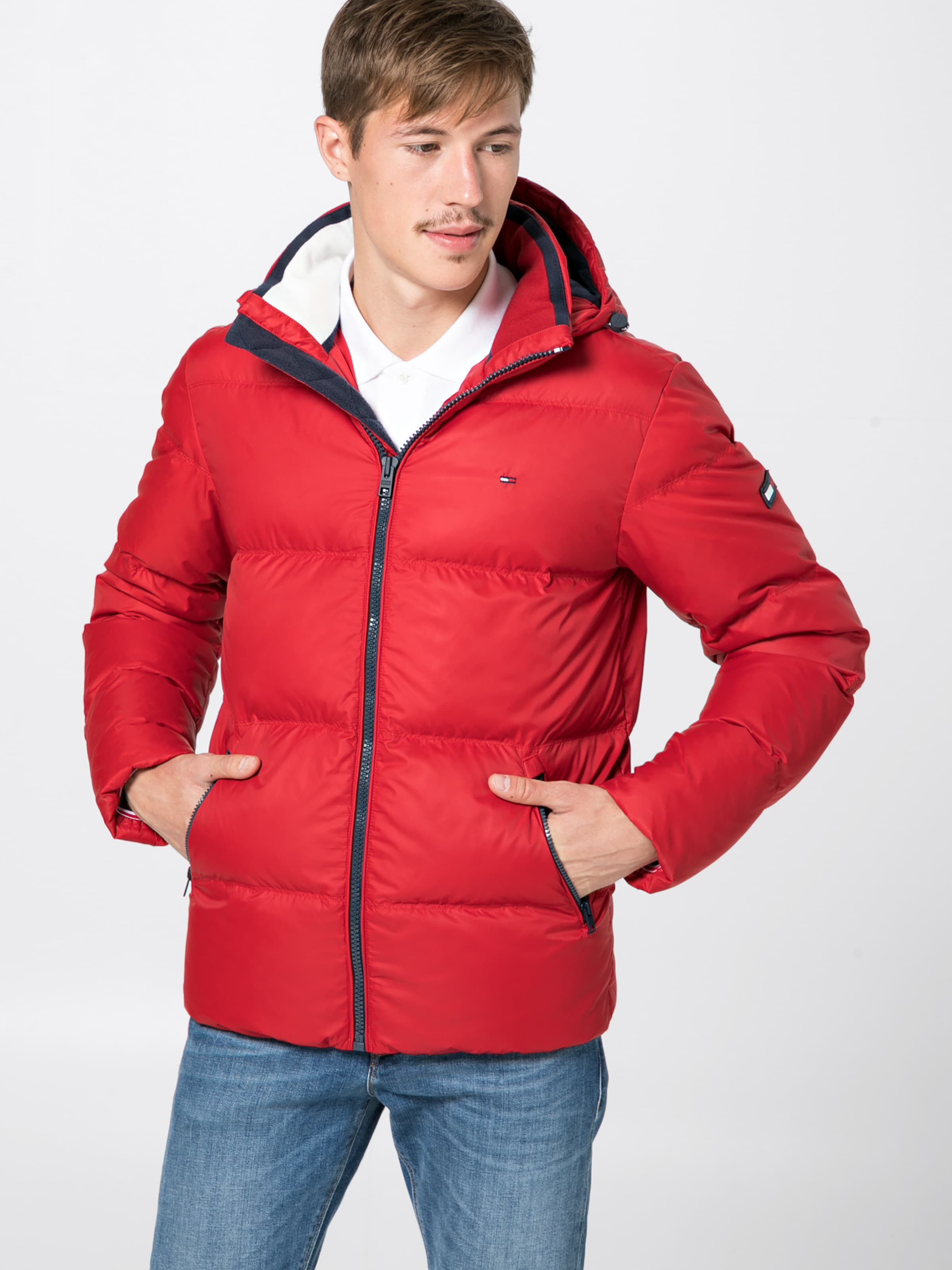 Tommy Down Jeans Essential 'tjm Jacket' In Steppjacke Rot ON0wPmnyv8