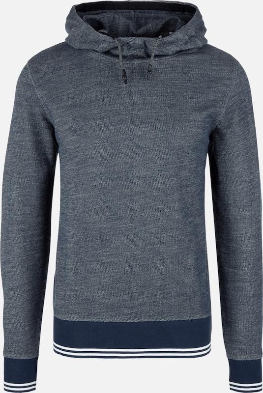 S.Oliver rot LABEL Kapuzensweater in nachtblau   weiß  Markenkleidung für Männer und Frauen