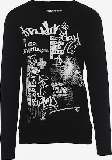 trueprodigy Sweatshirt 'Bronn' in schwarz / weiß, Produktansicht