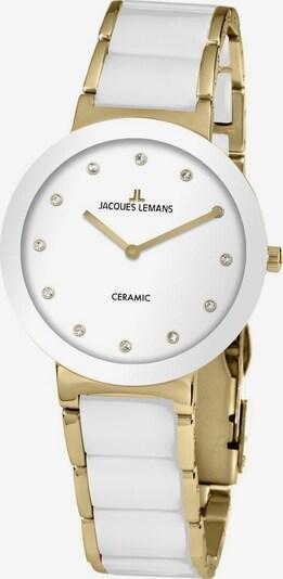 Jacques Lemans Quarzuhr 'High-Tech 42-7L' in gold / weiß, Produktansicht