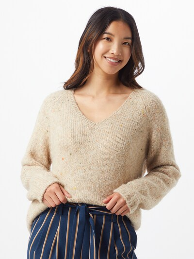 Herrlicher Pullover 'Vina' in karamell, Modelansicht