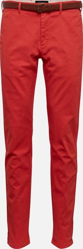 'stuart En Belt' Chino Rouge Peached In Twill With Scotchamp; Soda Pantalon RAjL45