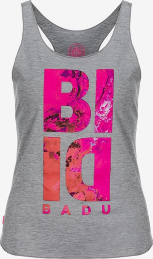 BIDI BADU Top 'Leya' in graumeliert / neonpink, Produktansicht