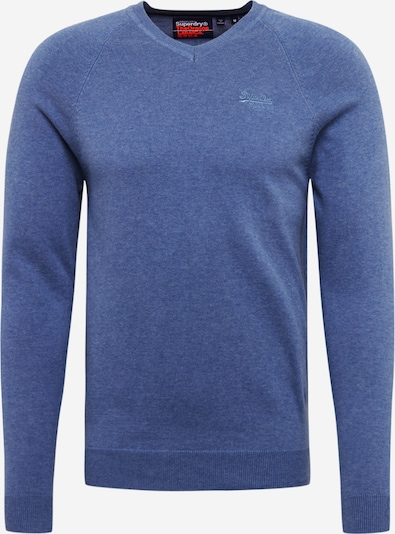 Superdry Pullover 'ORANGE LABEL COTTON VEE' in rauchblau, Produktansicht