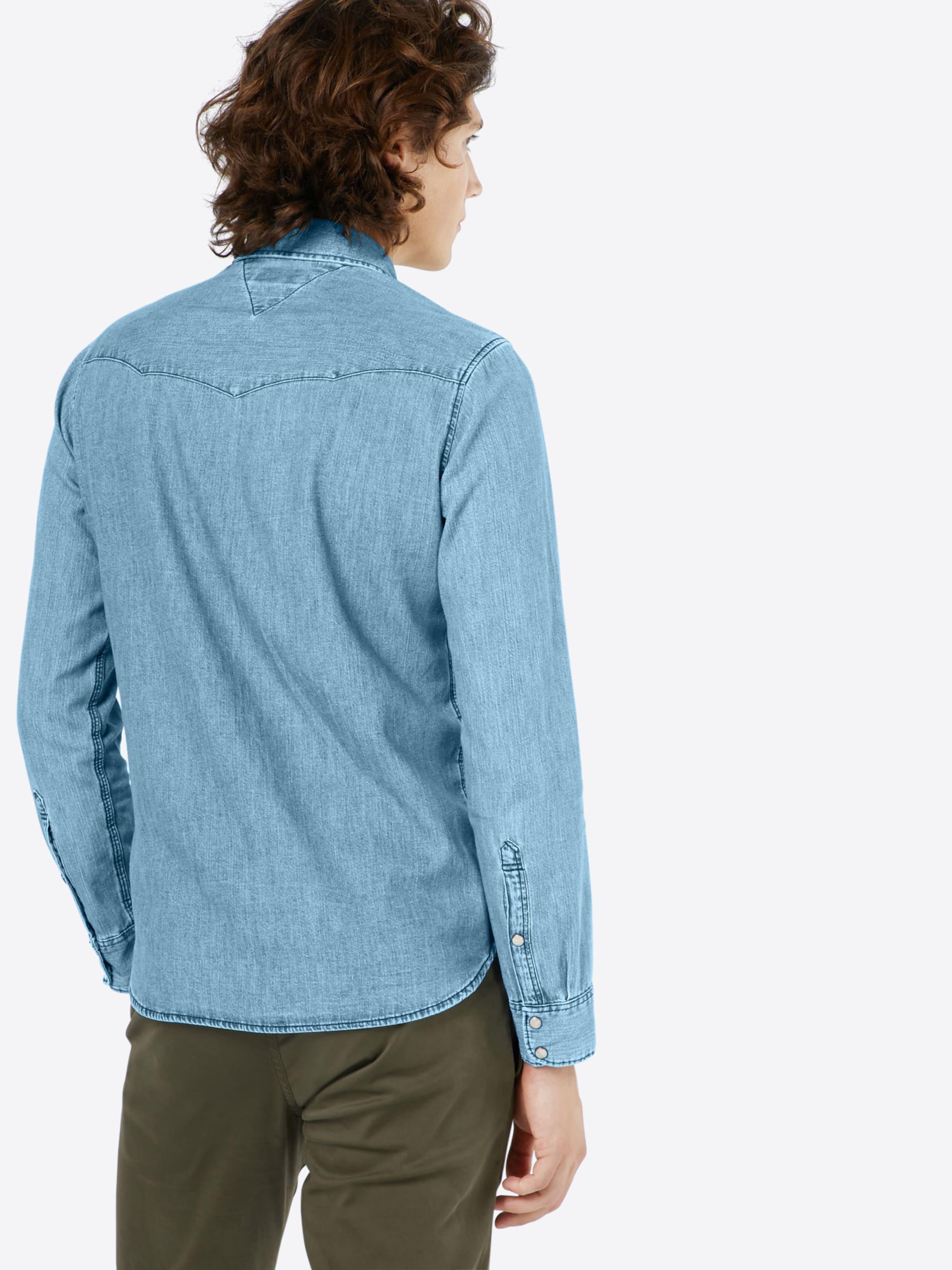 Spielraum Neu Tommy Jeans Hemd 'THDM BASIC REG DENIM' 2018 Unisex Günstiger Preis br1SrDm