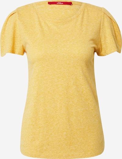 s.Oliver T-shirt en jaune chiné, Vue avec produit