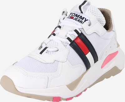 Tommy Jeans Sneaker in beige / navy / rot / weiß, Produktansicht
