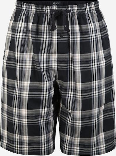 SCHIESSER Pidžama hlače u plava / crna / bijela, Pregled proizvoda