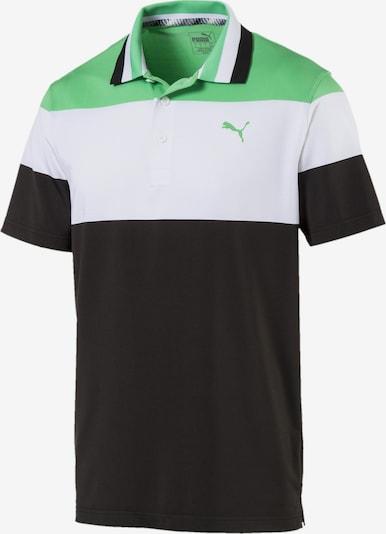 PUMA Polo in limette / schwarz / weiß, Produktansicht