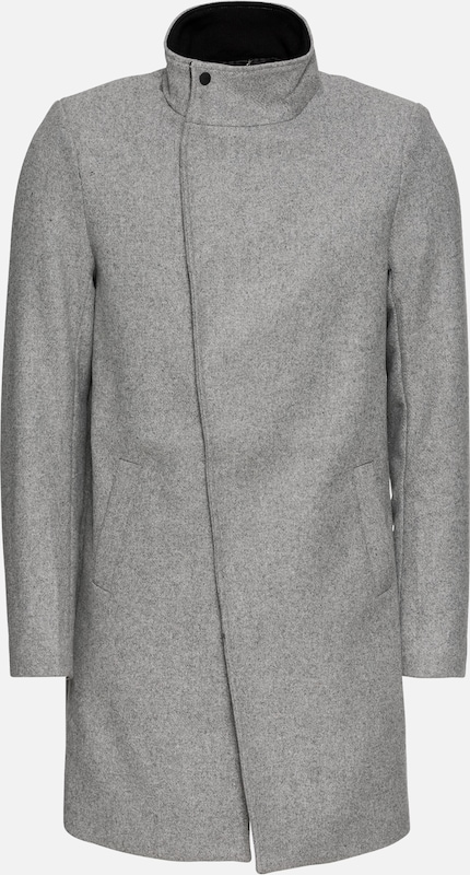 Only & Sons Mantel 'onsOSCAR WOOL COAT' in hellgrau, Produktansicht
