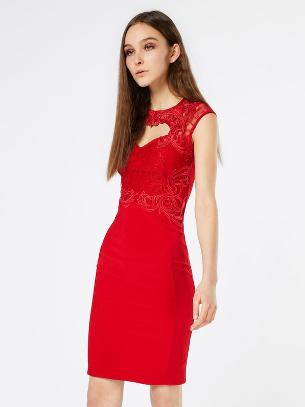 Lipsy Cocktailkleid 'Red Waxed'