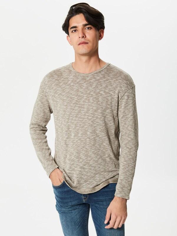 SELECTED HOMME T-Shirt mit langen Ärmeln und Rundhalsausschnitt