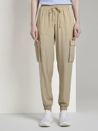 TOM TAILOR DENIM Hosen & Chino Nena & Larissa: Weiche Cargo-Hose im Utility-Look in beige, Modelansicht