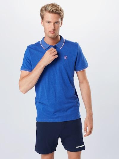 TOM TAILOR Shirt in de kleur Blauw / Sinaasappel / Wit: Vooraanzicht