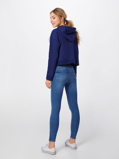 Noisy may Jeans 'NMKIMMY NW ANKLE ZIP JEANS' in blue denim: Rückansicht