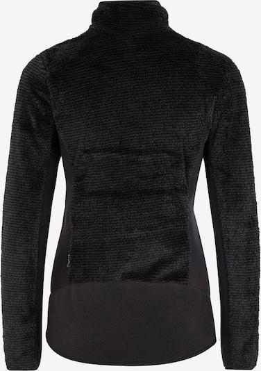 JACK WOLFSKIN Functionele fleece jas 'PINE LEAF' in de kleur Zwart: Achteraanzicht