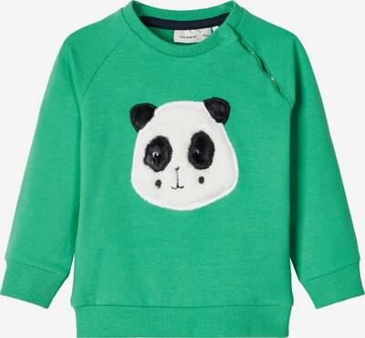 NAME IT Sweatshirt in grünmeliert / schwarz / weiß, Produktansicht