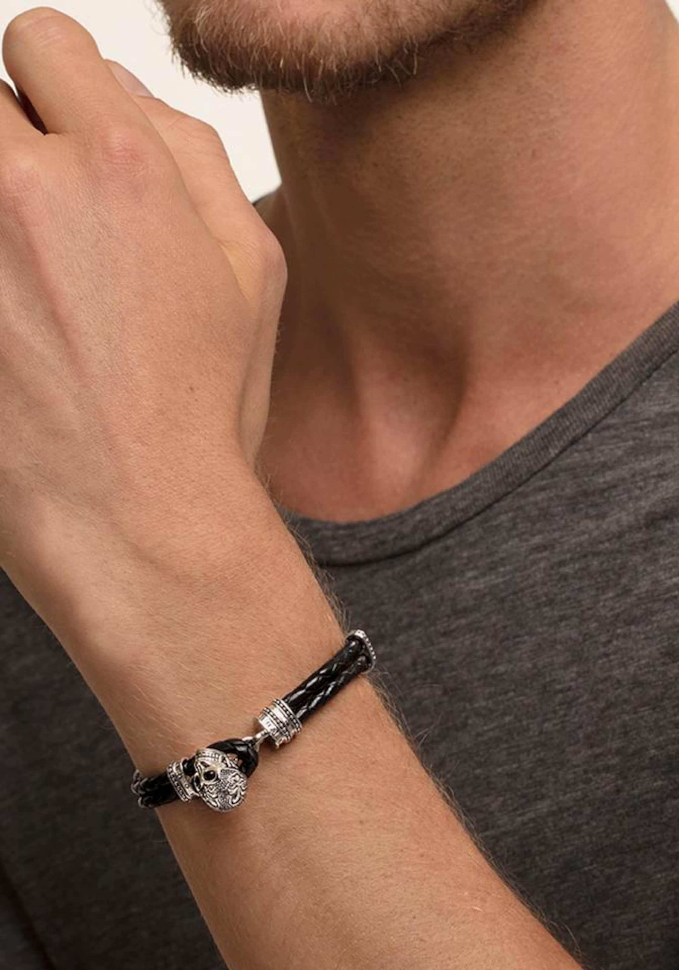 Thomas Sabo Armband 'Totenkopf mit Lilie, A1697-823-11-L18,5'