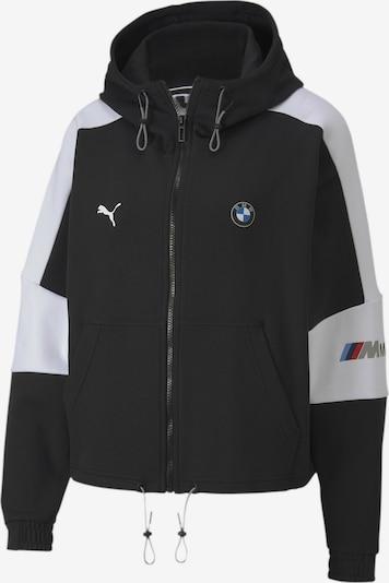 PUMA Sweatjacke 'BMW M Motorsport' in schwarz / weiß, Produktansicht