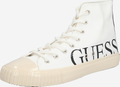 GUESS Sneakers high 'New Winners' in black / white, Item view