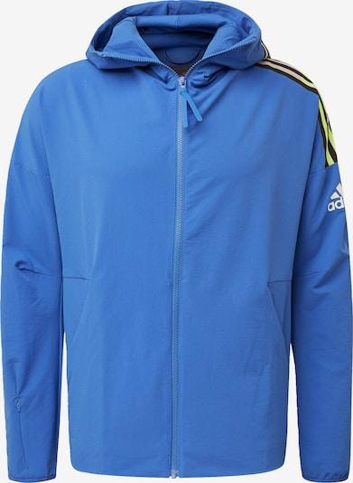 ADIDAS PERFORMANCE Sportjas in de kleur Hemelsblauw / Geel / Zwart, Productweergave