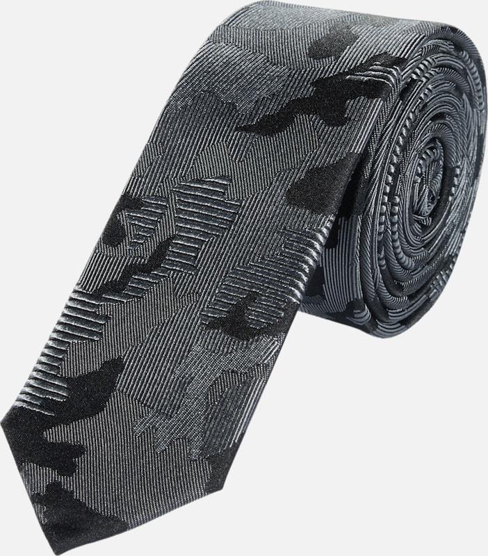 s.Oliver BLACK LABEL Krawatte mit Camouflage-Optik