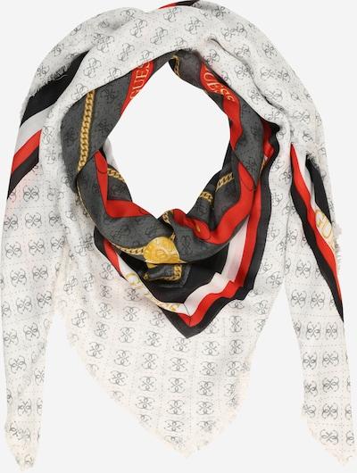 Fular GUESS pe auriu / gri / roșu / negru: Privire frontală