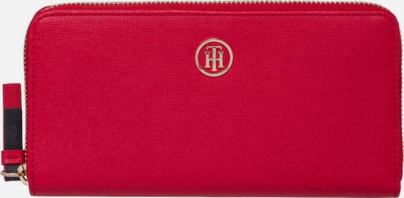 TOMMY HILFIGER Portemonaie 'TH SIGNATURE STRAP LRG ZA WALLET'
