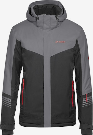 Maier Sports Jacke 'Rosengasse M' in grau / dunkelgrau, Produktansicht
