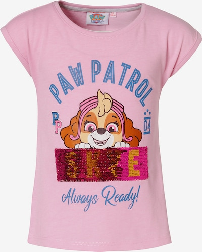 PAW Patrol T-Shirt in himmelblau / hellbraun / rosa, Produktansicht
