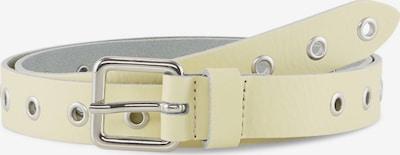 TOM TAILOR DENIM Belts Ledergürtel mit Lochnieten in weiß, Produktansicht