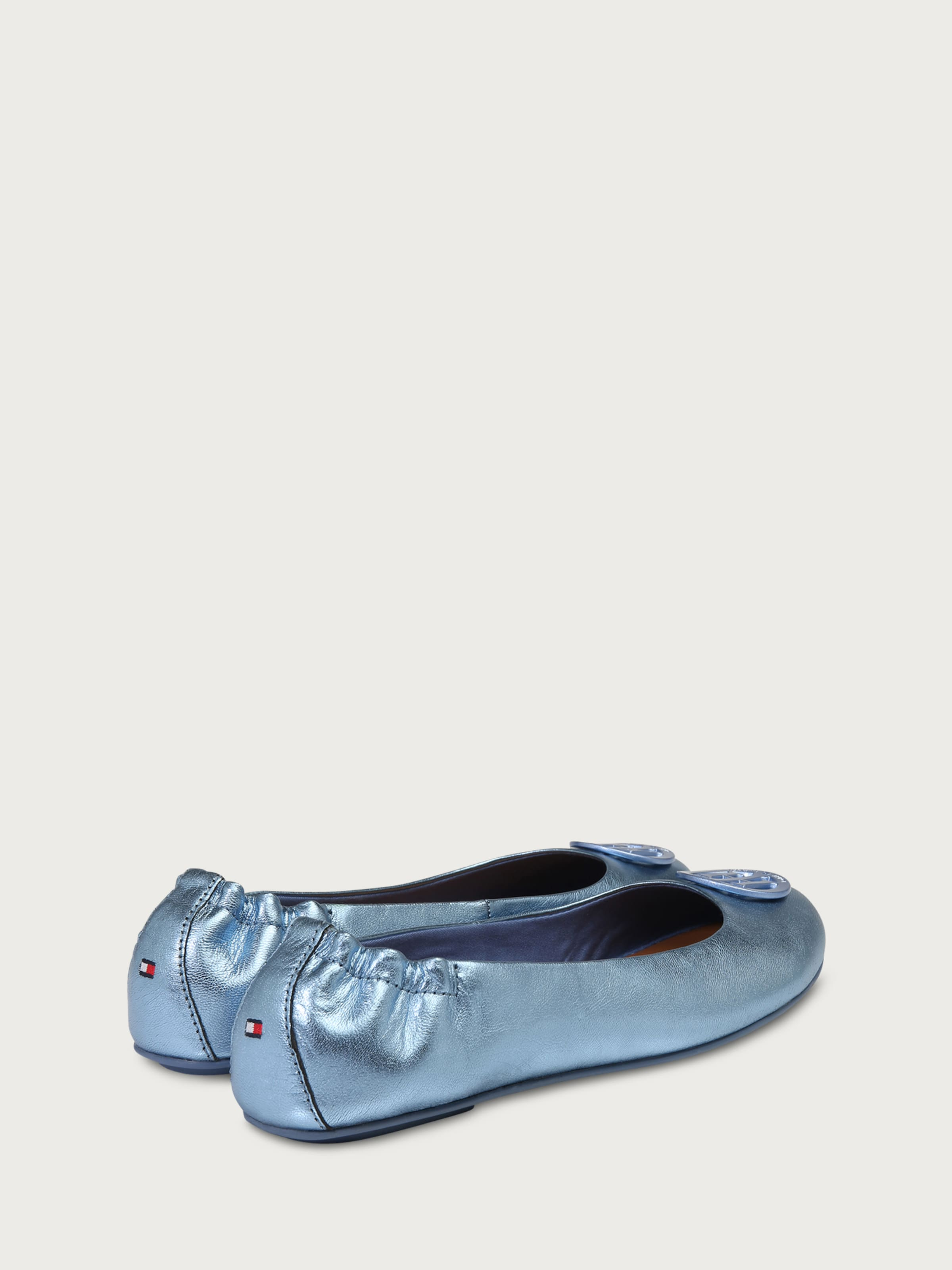 TOMMY HILFIGER Ballerinas in Metallic-Optik Rabatt Qualität Original xi5S6L