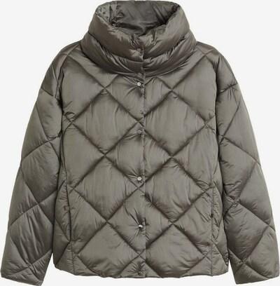 MANGO Veste d'hiver 'Blandico' en gris foncé / kaki, Vue avec produit