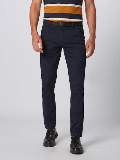 Pantaloni eleganți Lindbergh pe albastru: Privire frontală