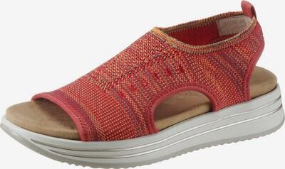 REMONTE Sandale in orange / rot / weiß: Frontalansicht
