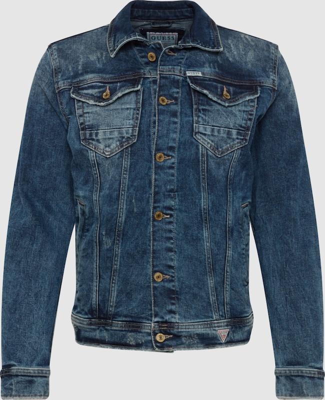84c6d62eb GUESS Prechodná bunda 'WILLIAM' vo farbe modrá denim | ABOUT YOU
